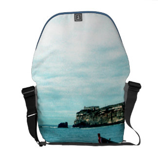 Portugal Seaside IV - Colorful Boats on the Beach Messenger Bag