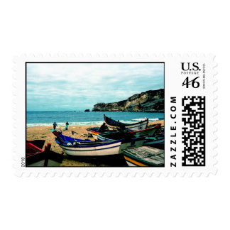 Portugal Seaside IV - Colorful Boats on the Beach Stamps