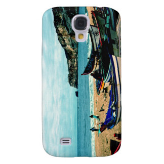 Portugal Seaside IV - Colorful Boats on the Beach Samsung S4 Case