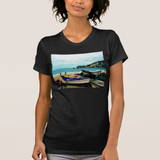 Portugal Seaside IV - Colorful Boats on the Beach T Shirts