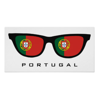 Portugal Shades custom text & color poster