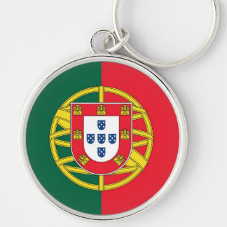 PORTUGAL Silver-Colored ROUND KEYCHAIN