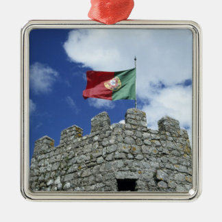 Portugal, Sintra. Portuguese flag on tower of Metal Ornament