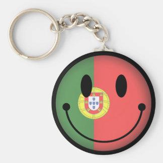 Portugal Smiley Basic Round Button Keychain