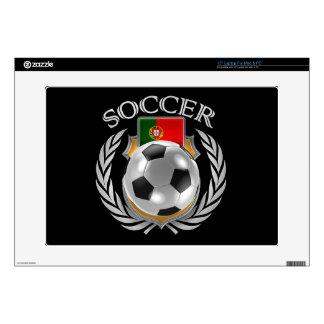 """Portugal Soccer 2016 Fan Gear 15"""" Laptop Decal"""