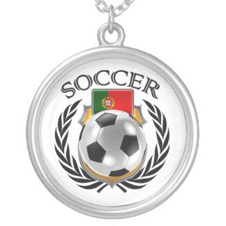 Portugal Soccer 2016 Fan Gear Silver Plated Necklace