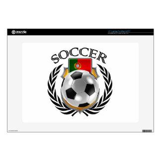 """Portugal Soccer 2016 Fan Gear Skins For 15"""" Laptops"""