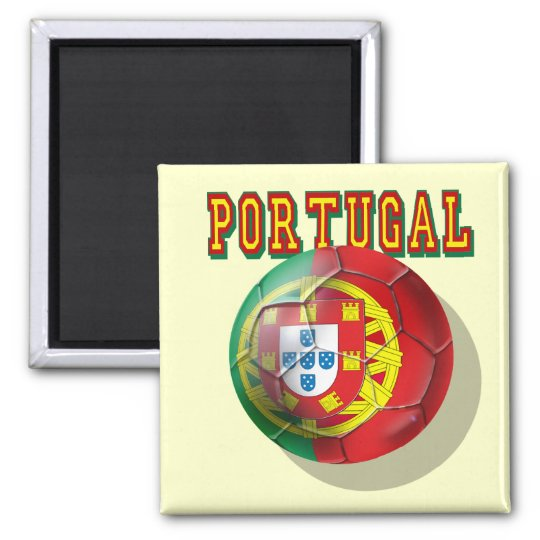 Portugal Soccer 2 Inch Square Magnet