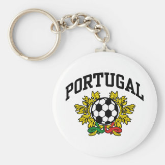Portugal Soccer Basic Round Button Keychain