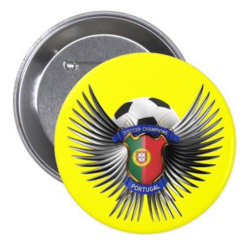 Portugal Soccer Champions 3 Inch Round Button
