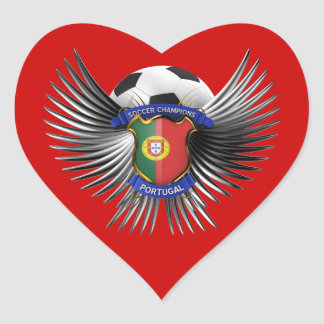 Portugal Soccer Champions Heart Sticker