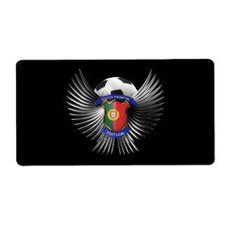 Portugal Soccer Champions Shipping Label