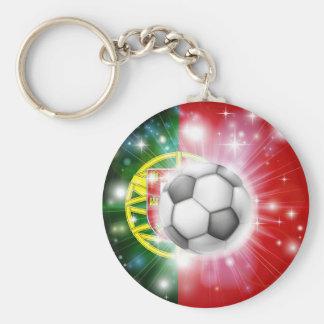 Portugal soccer flag key chains