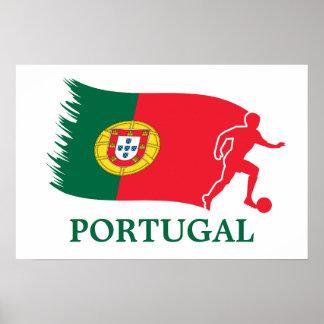 Portugal Soccer Flag Poster