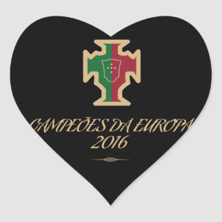 Portugal Soccer Football Euro 2016 Champions Heart Sticker