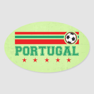 Portugal Soccer Oval Sticker