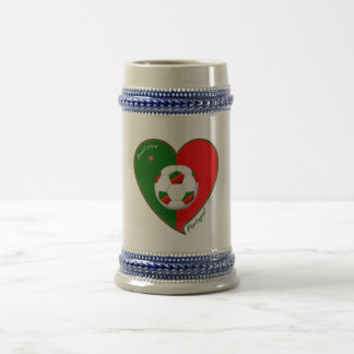 """PORTUGAL"" Soccer. Portuguese Soccer Team 2014 Beer Stein"