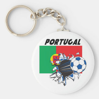 Portugal Soccer Swag Basic Round Button Keychain