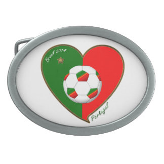 PORTUGAL Soccer Team Fútbol portugués 2014 Hebilla Cinturon