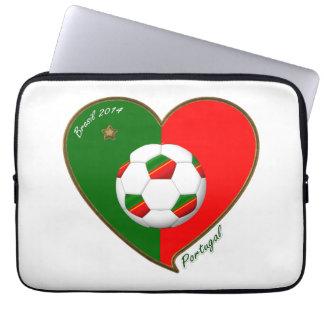 PORTUGAL Soccer Team Fútbol portugués 2014 Fundas Ordendadores