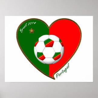 PORTUGAL Soccer Team Fútbol portugués 2014 Posters