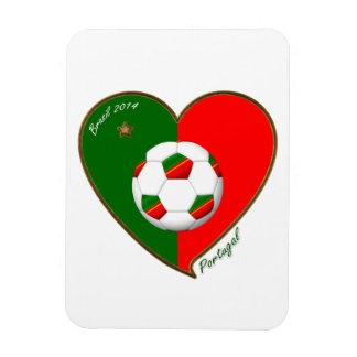PORTUGAL Soccer Team Fútbol portugués 2014 Imán Rectangular