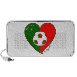 PORTUGAL Soccer Team Fútbol portugués 2014 Notebook Altavoces