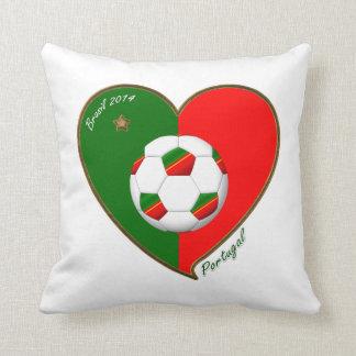 """PORTUGAL"" Soccer Team. Portuguese soccer 2014 Throw Pillow"