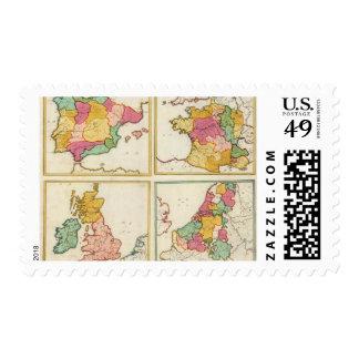 Portugal, Spain, Germany, England, Scottland Postage Stamp