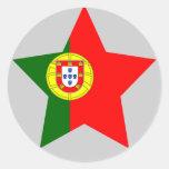 Portugal Star Round Sticker