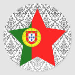 Portugal Star Round Stickers