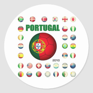 Portugal t-shirt D7 Classic Round Sticker