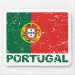 Portugal Vintage Flag Mouse Pad