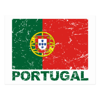 Portugal Vintage Flag Postcard