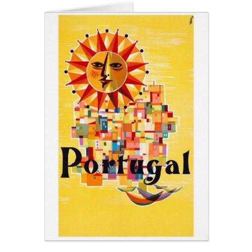 Portugal Vintage Poster Restored