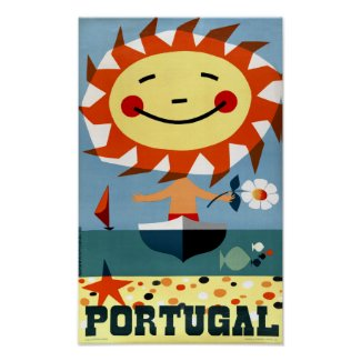Portugal Vintage Travel Poster Restored