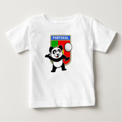 Baby Fine Jersey T-Shirt with Portugal Volleyball Panda design