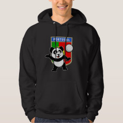 Men's Basic Hooded Sweatshirt with Portugal Volleyball Panda design