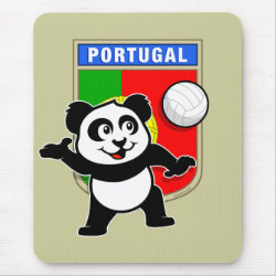 Mousepad with Portugal Volleyball Panda design
