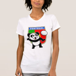 Women's American Apparel Fine Jersey Short Sleeve T-Shirt with Portugal Volleyball Panda design