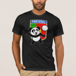 Men's Basic American Apparel T-Shirt with Portugal Volleyball Panda design