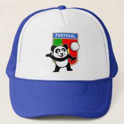 Portugal Volleyball Panda Trucker Hat