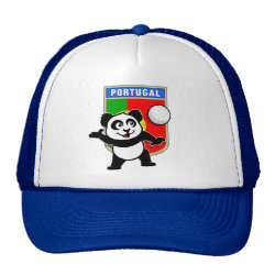 Trucker Hat with Portugal Volleyball Panda design