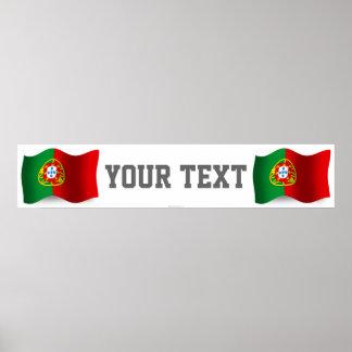 Portugal Waving Flag Banner Poster