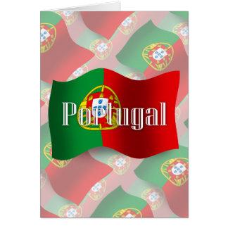 Portugal Waving Flag Card