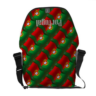 Portugal Waving Flag Courier Bag