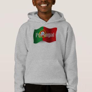 Portugal Waving Flag Hoodie