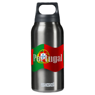 Portugal Waving Flag Insulated Water Bottle