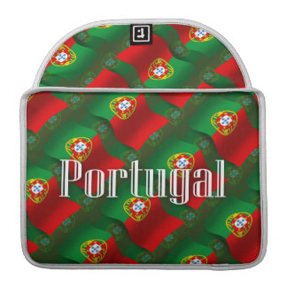 Portugal Waving Flag Sleeves For MacBook Pro