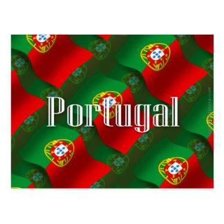 Portugal Waving Flag Postcard